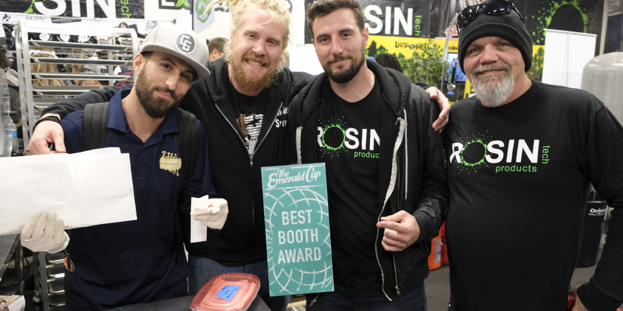 Rosin Tech Takes Home Best Booth at Emerald Cup 2017