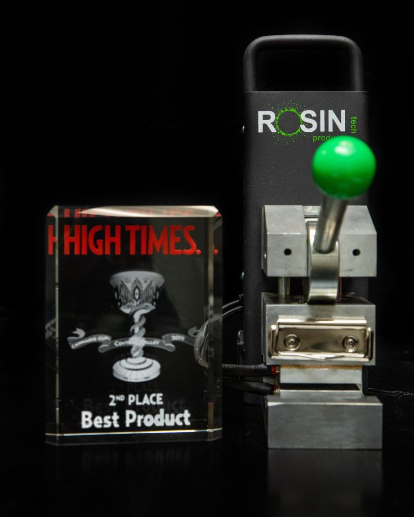Rosin Tech Go High Times Cannabis Cup 2nd place best product