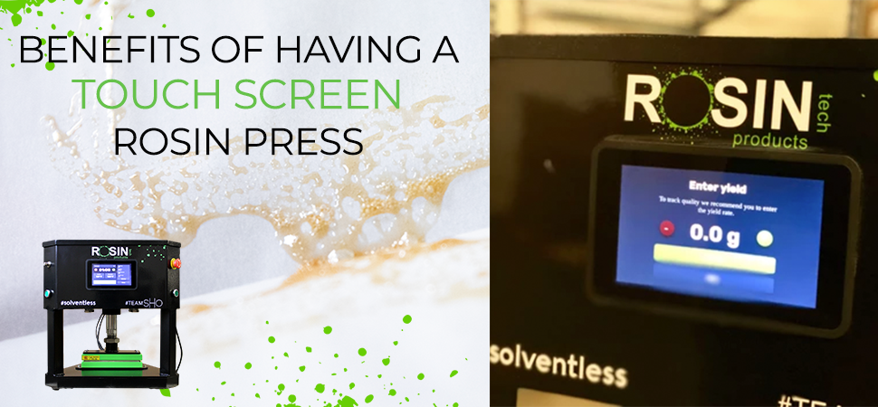 The Unique Benefits of Adding a Touchscreen to a Rosin Press